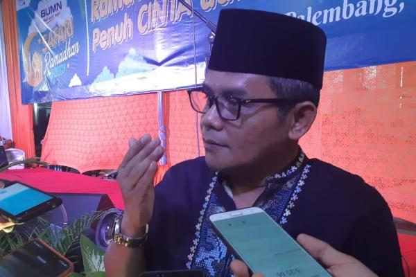 General Manager PT Pelindo II atau Indonesia Port Corporation (IPC) Cabang Palembang, Agus Edi Santoso, memberikan pemaparan terkait kesiapan mudik Lebaran - Bisnis/Dinda Wulandari