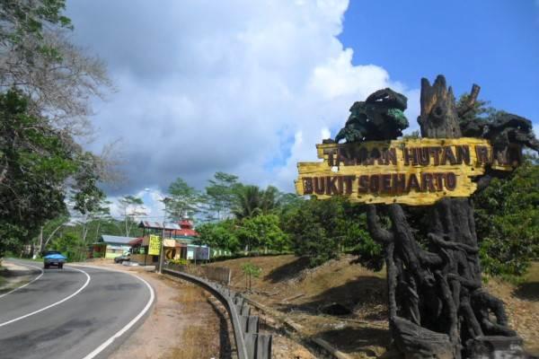 Jalan menuju Taman Hutan Raya Bukit Soeharto - wikipedia