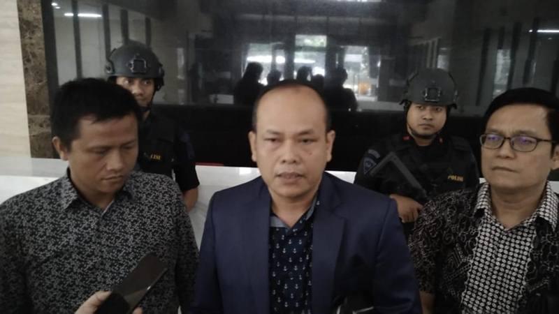 Humisar Sahala melaporkan mantan Danjen Kopassus Mayjen TNI (Purn) Soenarko ke Bareskrim Polri atas dugaan makar, Senin (20/5/2019). JIBI/Bisnis - Sholahudin Al Ayyubi