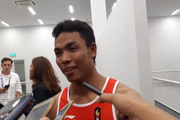 Lalu Mohammad Zohri atlet andalan Indonesia di Olimpiade 2020 Tokyo dari cabang atletik. - Bisnis/Nur Faizah Al Bahriyatul Baqiroh