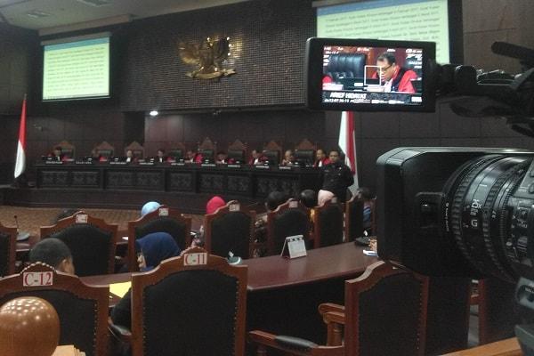 Mahkamah Konstitusi membacakan putusan di Gedung MK, Jakarta. Bisnis.com - Samdysara Saragih