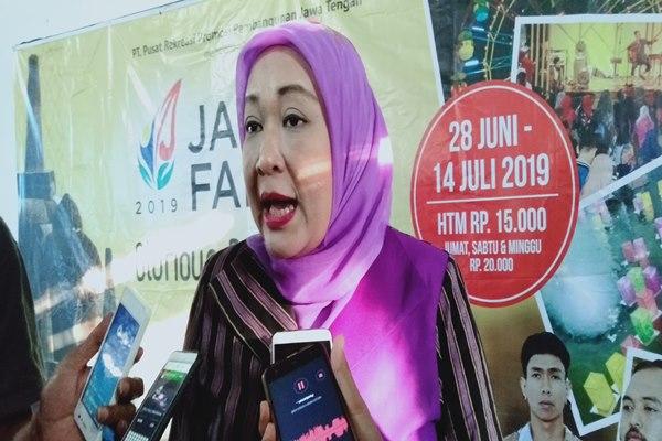 Direktur PRPP Jateng, Titah Listyorini saat memberikan keterangan kepada wartawan.