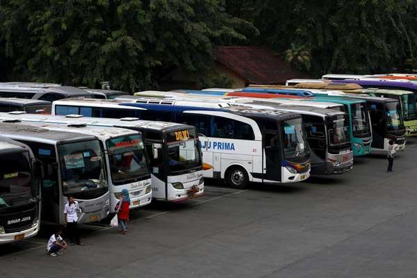 Ilustrasi - Bus Antarkota - Bisnis/Antara