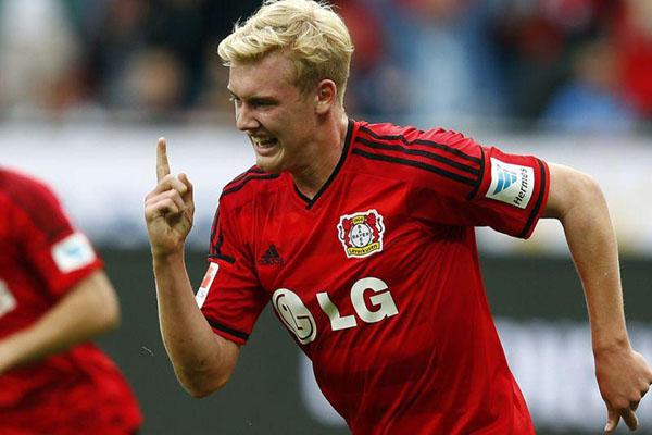 Julian Brandt, boyongan baru Borussia Dortmund. - Reuters/Ralph Orlowski