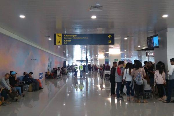 Suasana di dalam terminal baru Bandara Internasional Ahmad Yani, Semarang, Jawa Tengah, Kamis (7/6). - Bisnis/Yustinus Andry