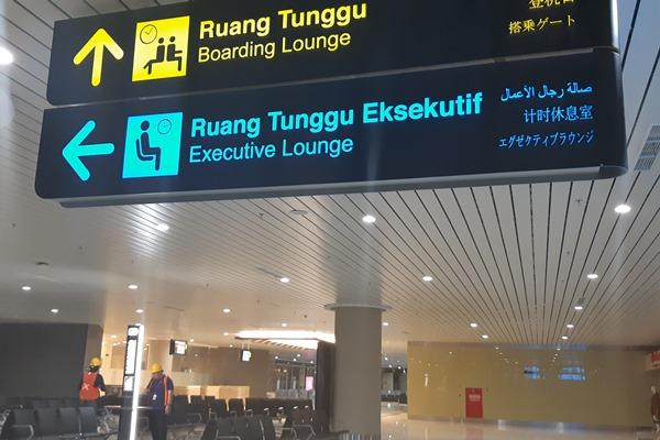 Sejumlah pekerja sedang merampungkan pengerjaan Bandara New Yogyakarta International Airport di Kulon Progo, DIY, Rabu (24/4/2019). - Bisnis/Sri Mas Sari