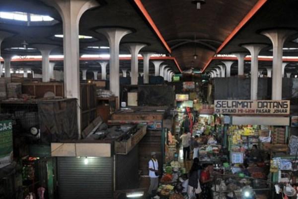 Pasar Johar, Semarang, sebelum terbakar. - Antara