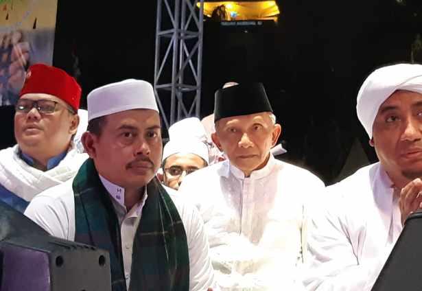 Amien Rais menghadiri malam Munajat 212 - Bisnis.com/Yusran