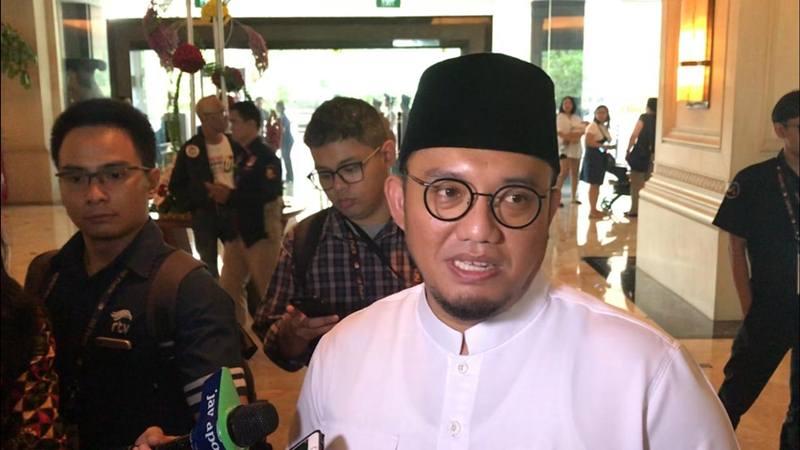Juru Bicara Badan Pemenangan Nasional Prabowo Subianto-Sandiaga Uno, Dahnil Anzar, jelang debat keempat pilpres 2019 di Hotel Shangri-La Jakarta. JIBI/Bisnis - Feni Freycinetia