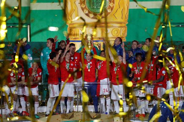 Bayern Munchen juara Piala Jerman 2019. - Reuters/Fabrizio Bensch