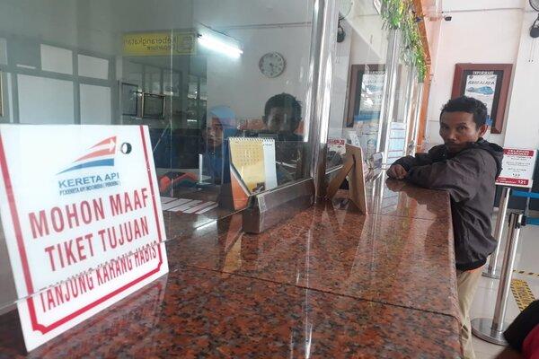Suasana Stasiun Kereta Api Kertapati Palembang jelang arus mudik Lebaran 2019./Bisnis-Dinda WulandariSuasana Stasiun Kereta Api Kertapati Palembang jelang arus mudik Lebaran 2019. - Bisnis/Dinda Wulandari