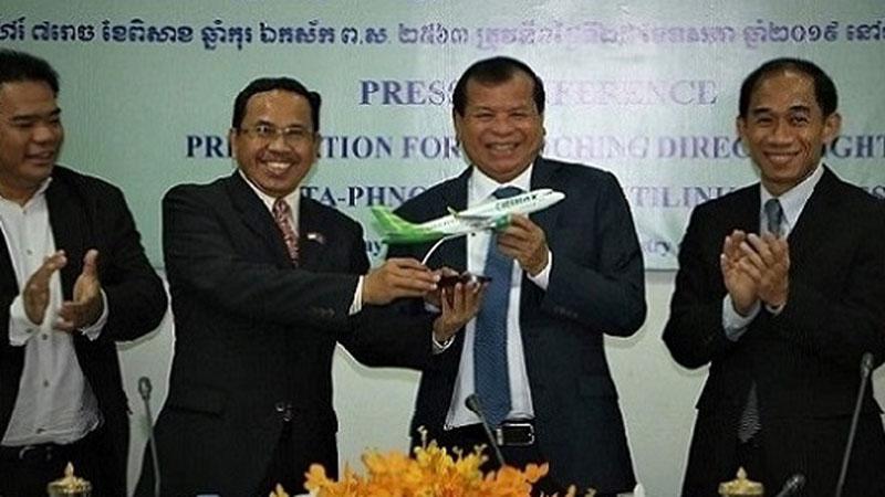 Jumpa pers penerbangan langsung Citilink Jakarta - Phnom Penh. - Istimewa