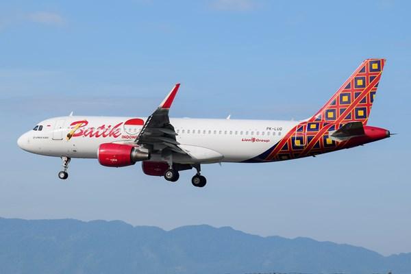 Ilustrasi - Batik Air dengan tipe pesawat Airbus 320-200CEO. - Batik Air / Marthunis