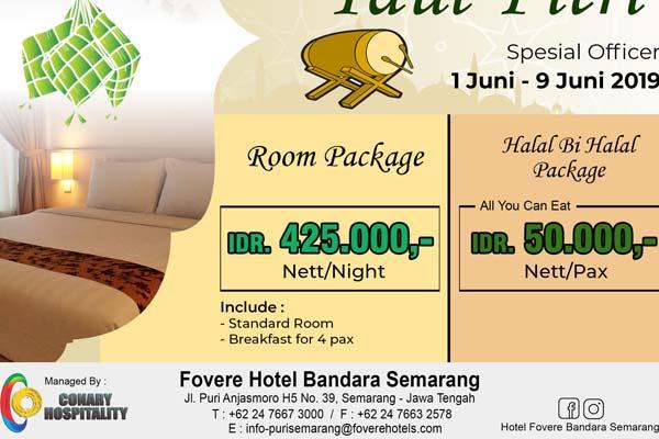 Fovere Bandara Semarang menawarkan harga kamar Rp425.000 per malam dan paket halal bihalal Rp50.000 per orang. - Istimewa