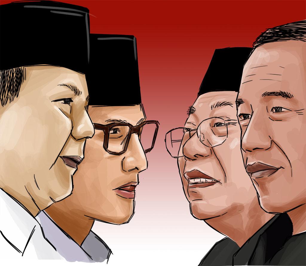 Prabowo / sandiaga Uno versus Jokowi / Maruf Amin