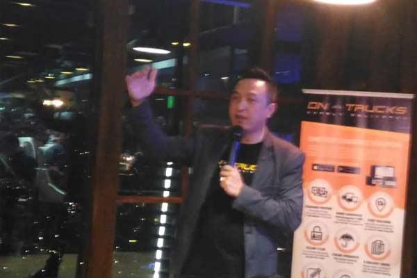 Yohanes Rocky, Founder and Chief Executive Officer PT Phos Tekno Indonesia-perusahaan pengembang platform layanan transportasi logistik On-Trucks.  - BISNIS.COM/MFM