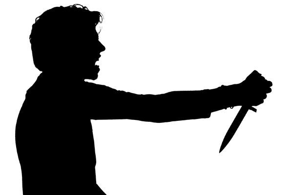 Penikaman pisau - ilustrasi