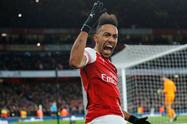 Ujung tombak Arsenal Pierre-Emerick Aubameyang - Reuters/Eddie Keogh