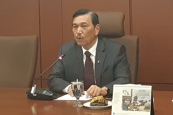 Menteri Koordinator Bidang Maritim Luhut Pandjaitan, salah satu tokoh nasional yang menjadi target pembunuhan pada aksi 21-22 Mei 2019. - Bisnis/Juli Etha Ramaida Manalu