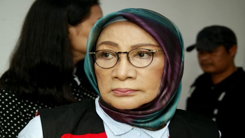 Terdakwa kasus dugaan penyebaran berita bohong atau hoaks Ratna Sarumpaet bersiap mengikuti sidang lanjutan di PN Jakarta Selatan, Jakarta, Selasa (14/5/2019). - Antara