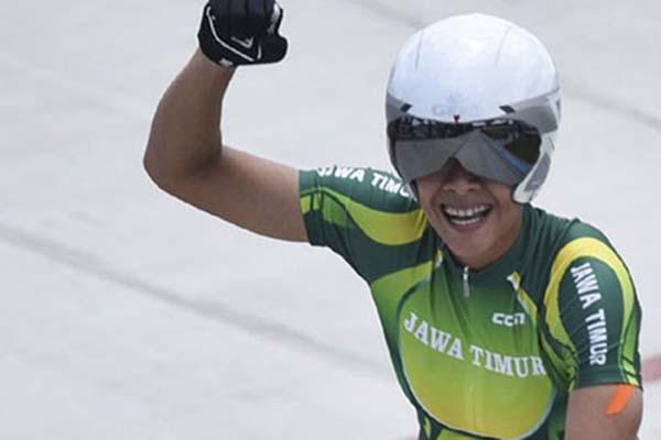 Atlet balap sepeda SMX Elga Kharisma Novanda - Antara/Zabur Karuru