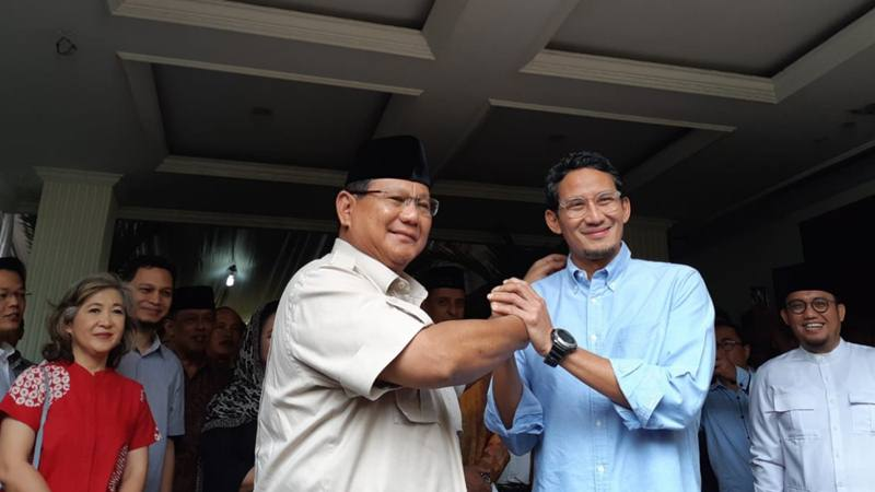 Capres Prabowo Subianto dan cawapres Sandiaga Uno, Selasa (21/5/2019)./Bisnis - Feni Freycinetia Fitriani
