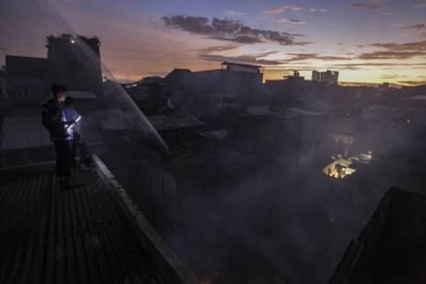 Ilustrasi kebakaran - ANTARA/Muhammad Adimaja