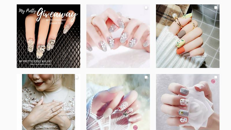 Tangkapan layar akun Instagram My Prettylicious Nail Art.