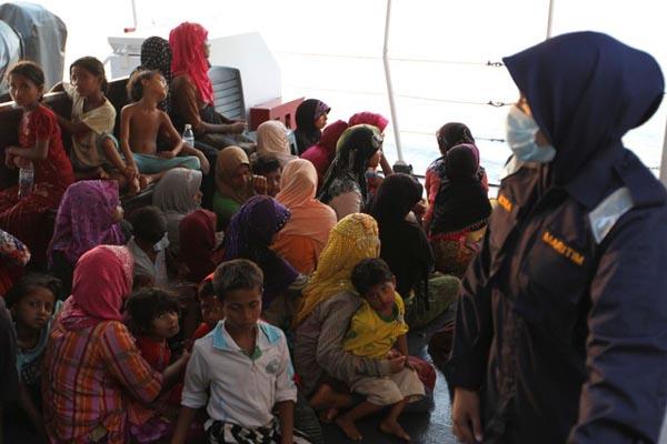Pengungsi Rohingya di Kuala Kedah, Malaysia, pada Selasa (3/4/2018). - Reuters