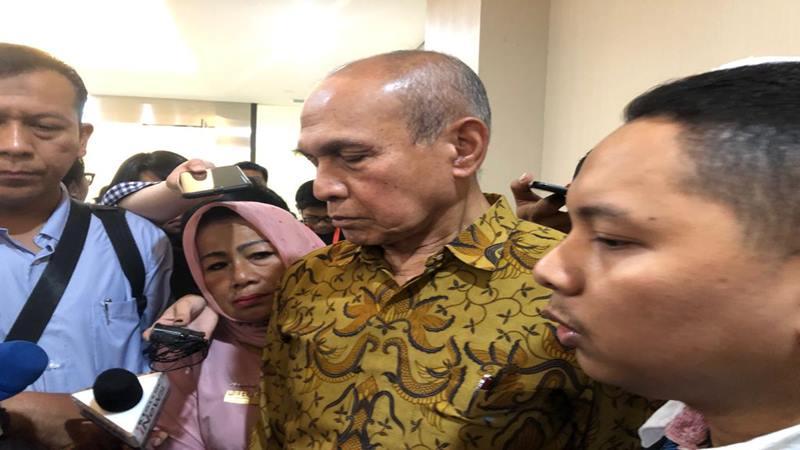 Mayjen TNI (Purn) Kivlan Zen di Bareskrim Mabes Polri, Senin (13/5/2019). JIBI/Bisnis - Sholahuddin Al Ayyubi