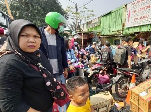 Pemudik membawa anak perlu perhatikan keamanan dan kenyamanan - Bisnis/Tim Jelajah Lebaran Jawa/Bali 2019