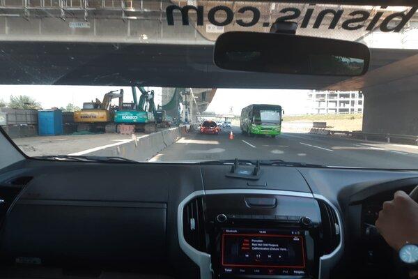 Kontra flow Tol Jakarta-Cikampek. - Bisnis