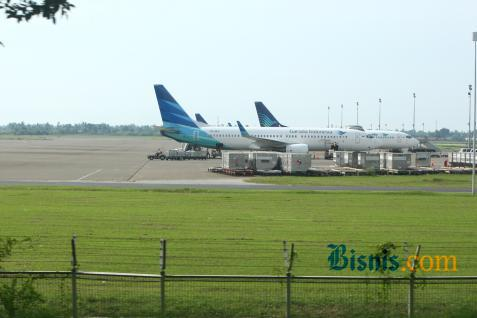 Ilustrasi - Pesawat Garuda - Bisnis/Bisnis.com