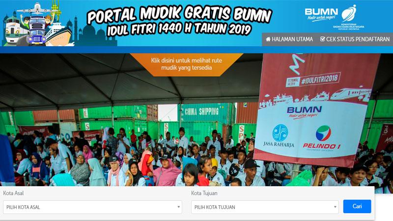 Situs pendaftaran Mudik Bareng BUMN 2019