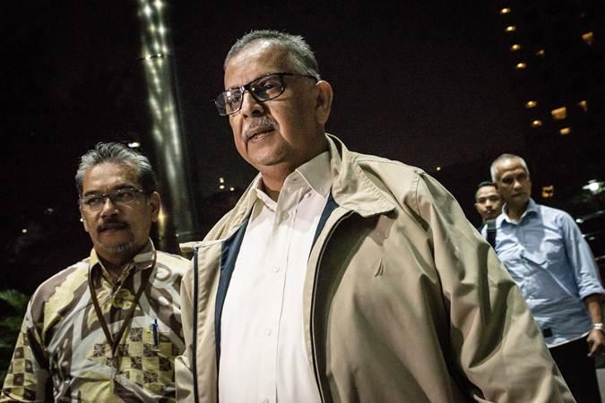 Sofyan Basir saat menjalani pemeriksaan di Gedung KPK - ANTARA/Aprillio Akbar