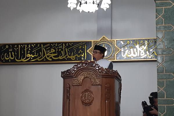 Kepala Kantor Kementerian Agama Manado Irwan Musa saat Salat Id, Rabu (5/6/2019). JIBI/Bisnis - Ilman A Sudarwan