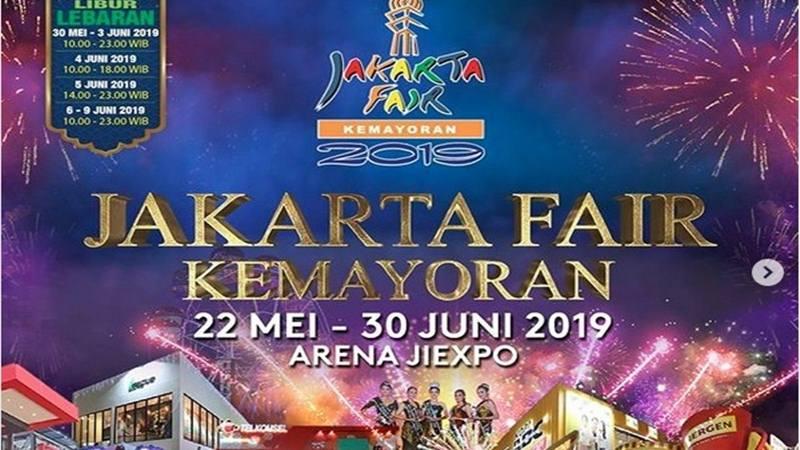 Jakarta Fair digelar mulai 22 Mei-30 Juni 2019. - Instagram