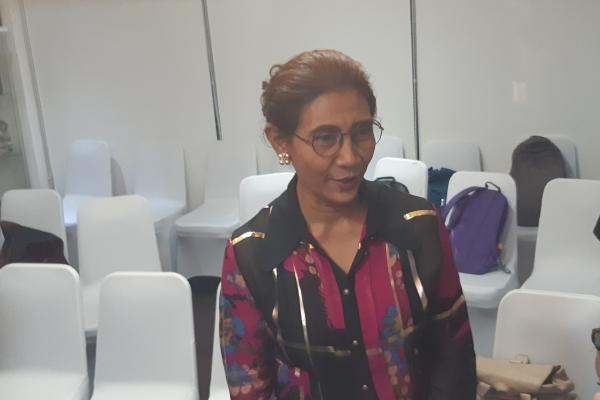 Menteri Susi Pudjiastuti dalam acara open house di kediamannya di Jalan Widya Chandra, Jakarta, Kamis (6/6/2019). - Bisnis/Juli Etha
