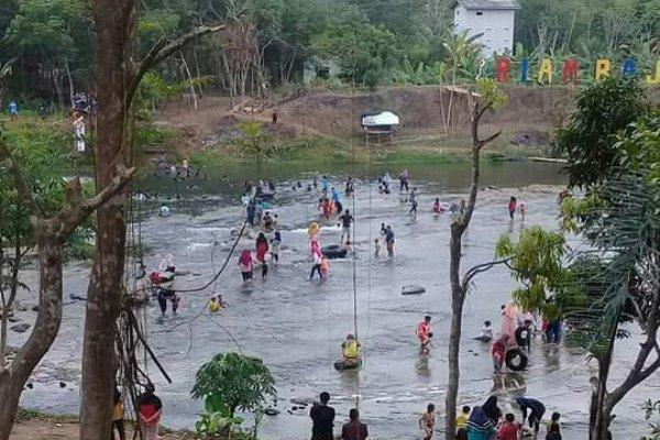 Ilustrasi - Objek wisata baru Riam Bajandik di Kabupaten Hulu Sungai Tengah, Kalimantan Selatan. - Bisnis/Istimewa