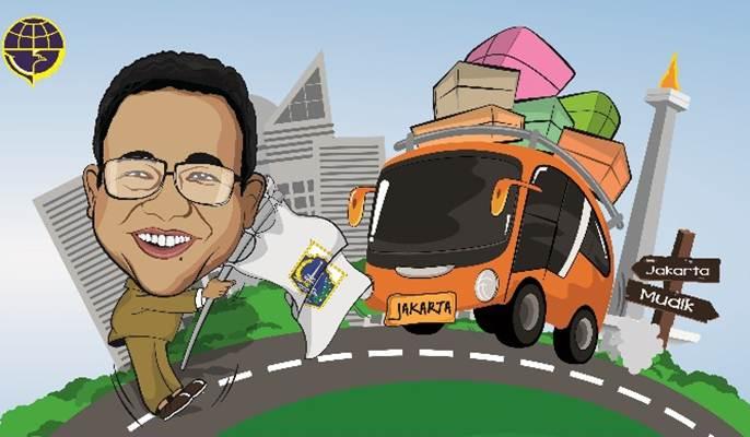 Pemprov DKI menyelenggarakan mudik gratis dan layanan arus balik ke Jakarta - mudikgratis.jakarta.go.id