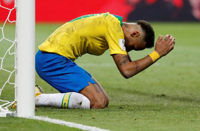 Pemain Brasil Neymar Jr - Reuters
