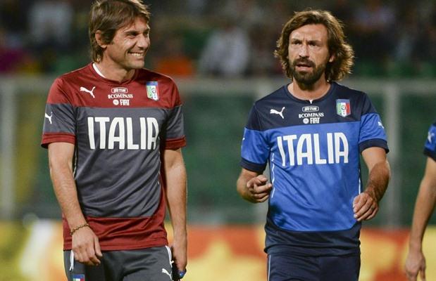 Antonio Conte dan Andrea Pirlo - www.corrieredellosport.it