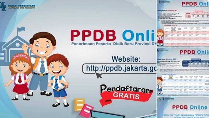 Ilustrasi penerimaan peserta didik baru (PPDB) online di DKI. - Instagram @disdikdki