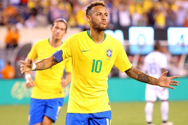 Penyerang Timnas Brasil Neymar da Silva Santos Jr. - Reuters