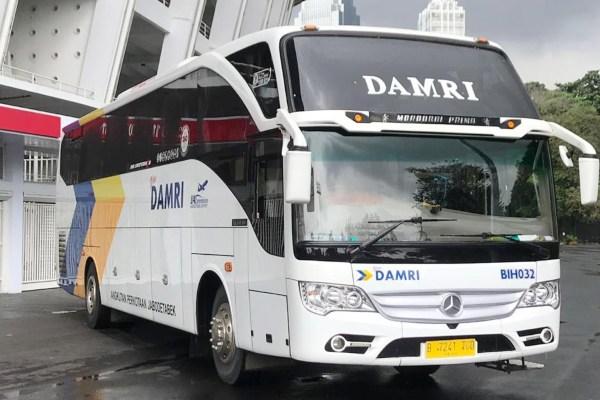 Selama masa Angkutan Lebaran 2019, Perum DAMRI mengangkut 205.000 pemudik dengan menggunakan 844 armada. - Istimewa