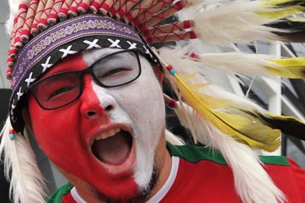 Suporter Timnas Indonesia Antara/Wahyu Putro