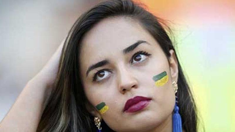 Salah satu fan Timnas Brasil. - Reuters