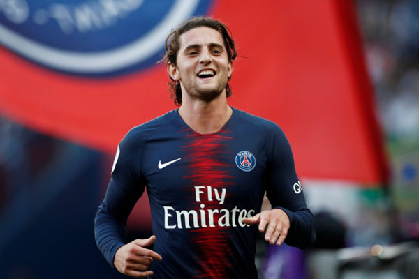 Gelandang Paris Saint-Germain Adrien Rabiot - Reuters/Benoit Tessier