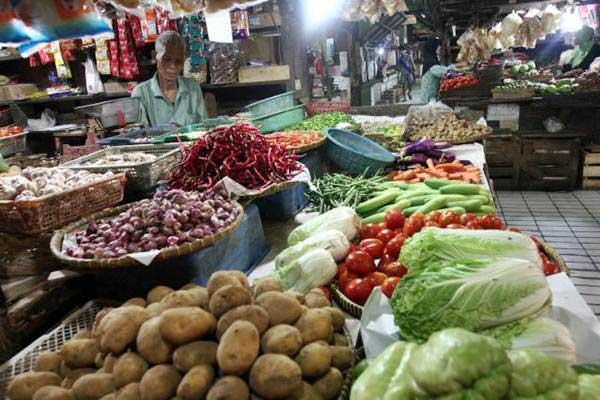 Suasana di pasar tradisional di Jakarta. -  JIBI/Abdullah Azzam