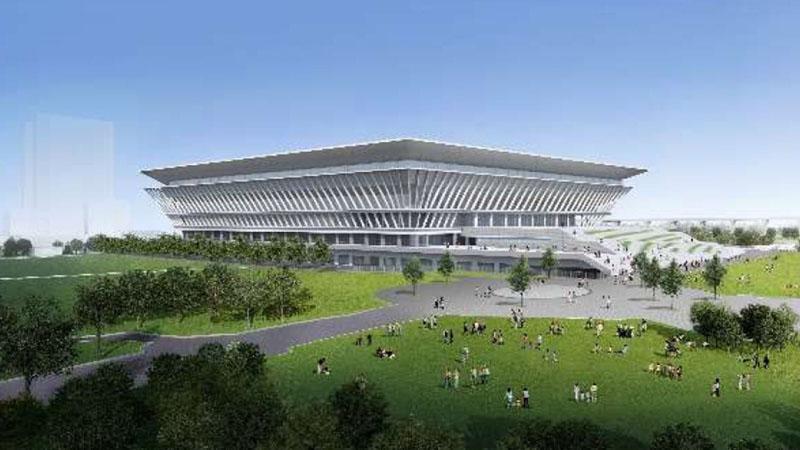 Tokyo Aquatics Centre. - Bridgestone Corp.